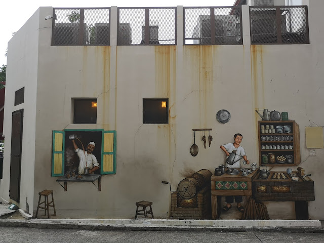Coffee shop mural