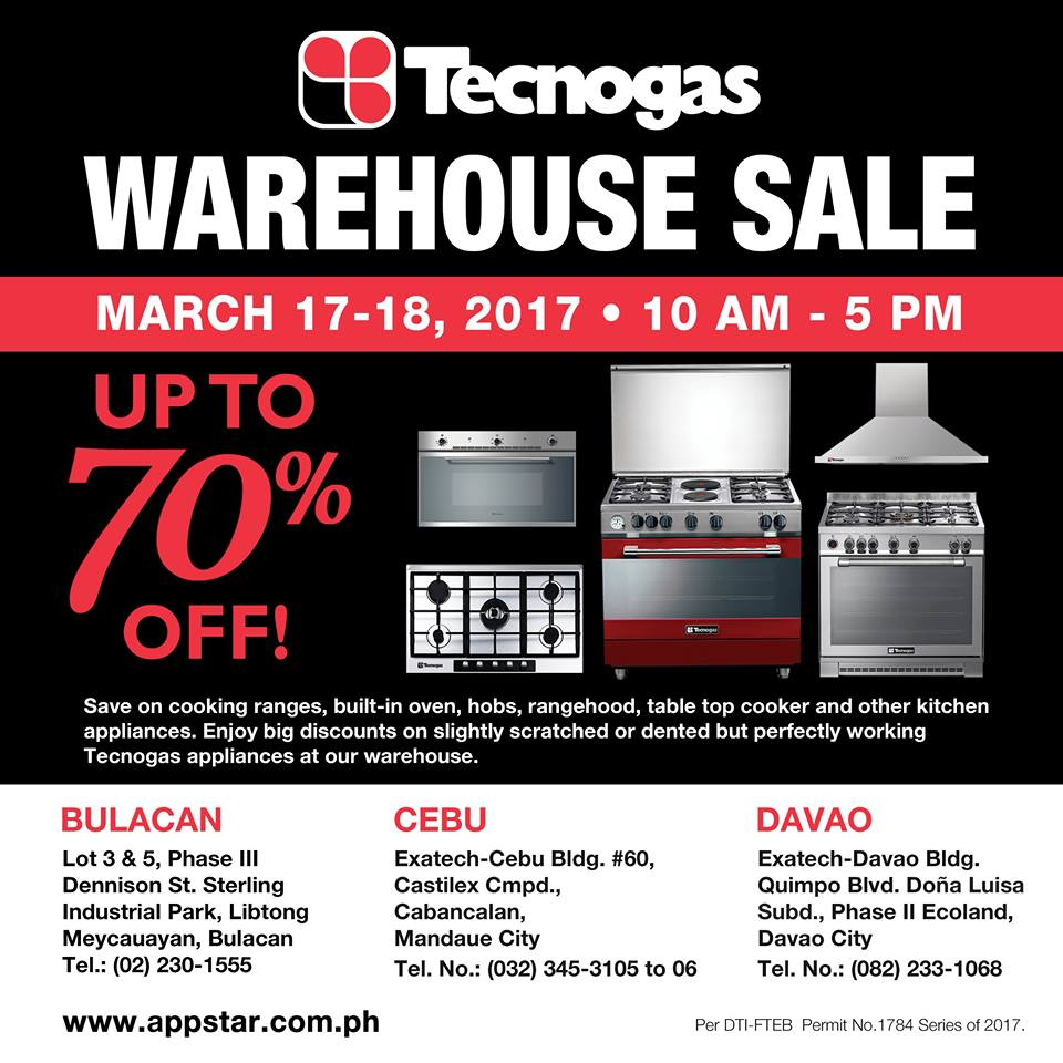 Warehouse Kitchen Appliances Manila Shopper Whirlpool Fujidenzo Technogas Warehouse Sale