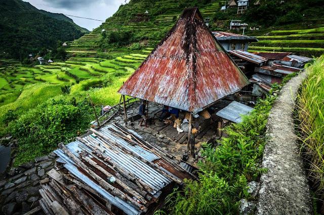Batad Sidescenes A Batad Hut