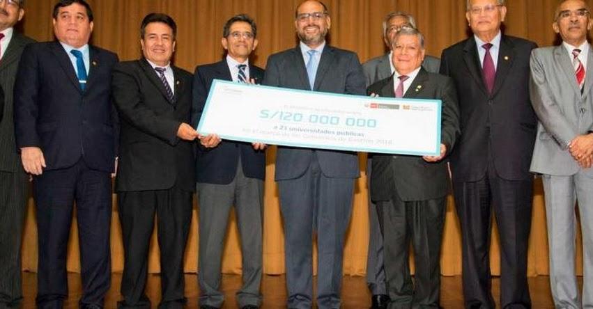 14 universidades públicas recibirán 100 millones de soles para obtener licenciamiento de la SUNEDU - www.sunedu.gob.pe