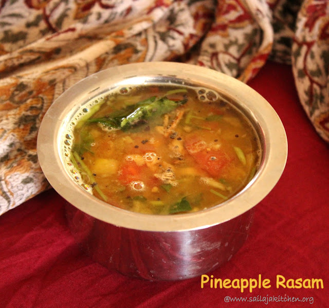 Images of Pineapple Rasam Recipe / Festive Pineapple Rasam / South Indian Pineapple Rasam / Rasam Varieties