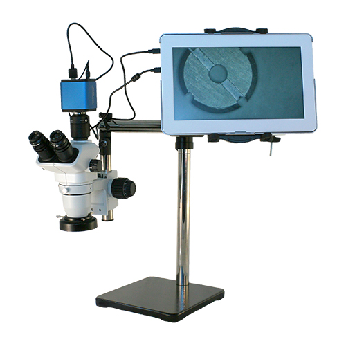 LCD tablet stereo zoom HD digital microscope boom stand system.