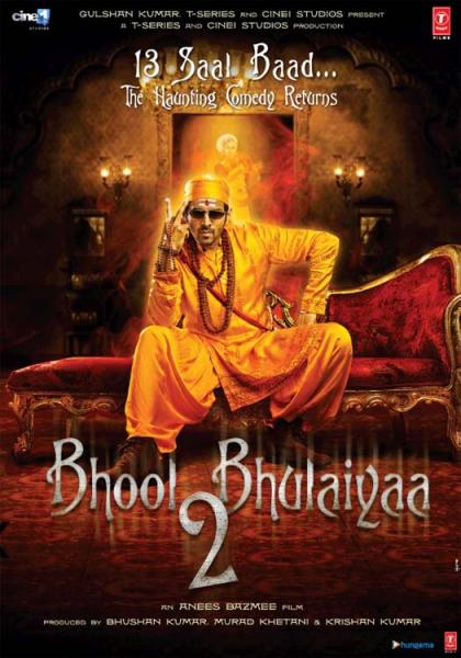 Bhool Bhulaiyaa 2 new upcoming movie first look, Poster of Kartik next movie download first look Poster, release date