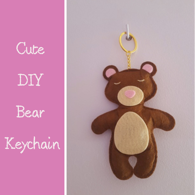 Cute DIY Bear Keychain