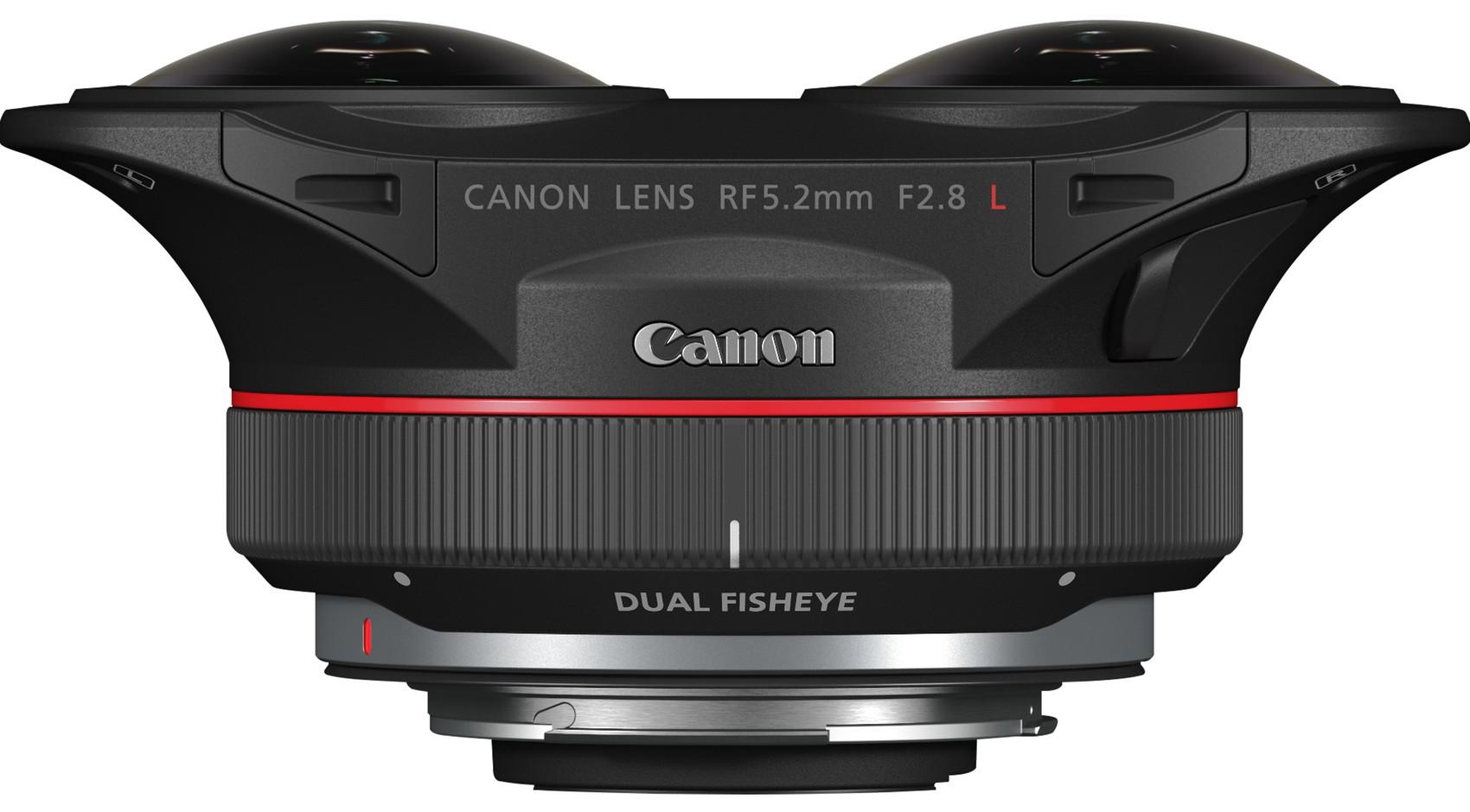 Canon RF 5.2mm f/2.8L, вид сверху