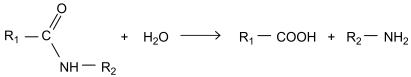 Polímeros como o Kevlar podem sofrer hidrólise de acordo com a equação genérica a seguir: