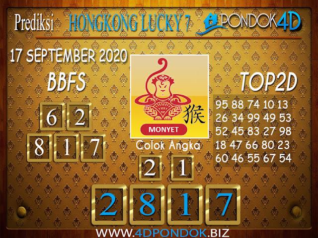 Prediksi Togel HONGKONG LUCKY 7 PONDOK4D 17 SEPTEMBER 2020