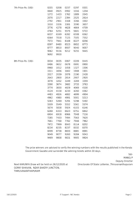 LIVE Kerala Lottery Result 19-12-2020 Karunya KR-478 Results Today karunya-kr-478-lottery-result-19-12-2020,Karunya Lottery Result,Today Lottery