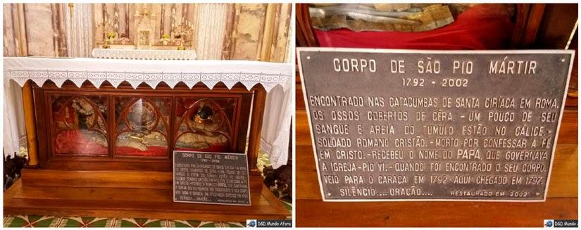 Santuário do Caraça - igreja neogótica de Nossa Senhora Mãe dos Homens e o corpo de São Pio Mártir