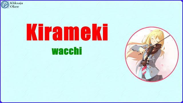 Lirik dan Terjemahan Wacci - Kirameki Bahasa Indonesia