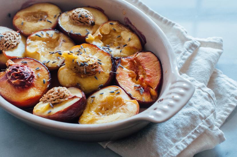 ... : Roasted Nectarine & Lavender Sorbet (AIP, Paleo, Vegan variation
