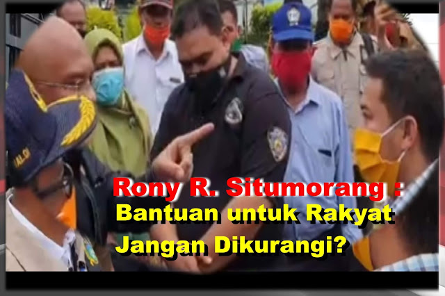 DPRD Marah-marah, Rony Reynaldo : Masyarakat Susah, Bantuan Jangan Dikurangi Lagi