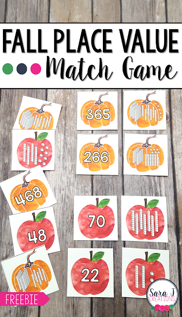 Practice place value with this free matching game.