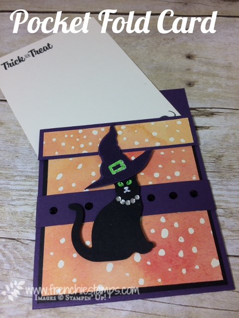 Spooky Cat, Pocket Fold, Painted Autumn,  Stampin'Up!, frenchiestamps