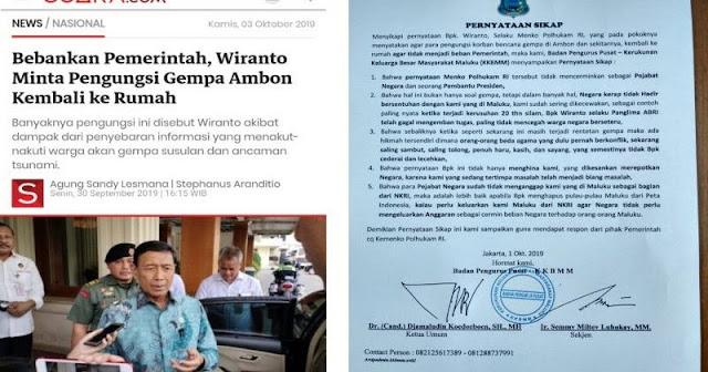 Protes Pernyataan Wiranto, Maluku Minta Dihapus dari Peta Indonesia