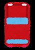 上から見た自動車のイラスト(赤)