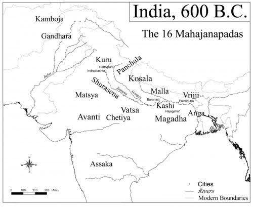 Angdesh Map | India 600BC | Ang Mahajanpadas
