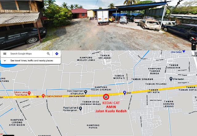 Lokasi-Kedai-Cat Amin-Jalan-Kuala-Kedah