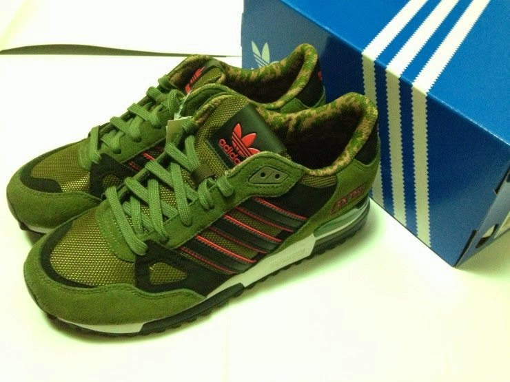 fábrica auténtica zapatos para correr diseño exquisito sneakers lover: Adidas ZX750 camo green