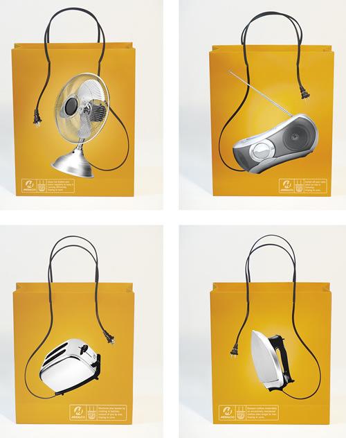 Desain Paper Bag/ Tas Belanja Kipas angin