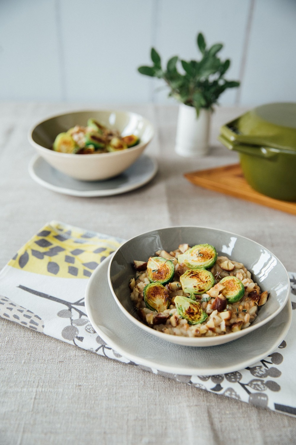 Brussel Sprout, Chestnut And Sage Risotto (vegetarian/vegan)