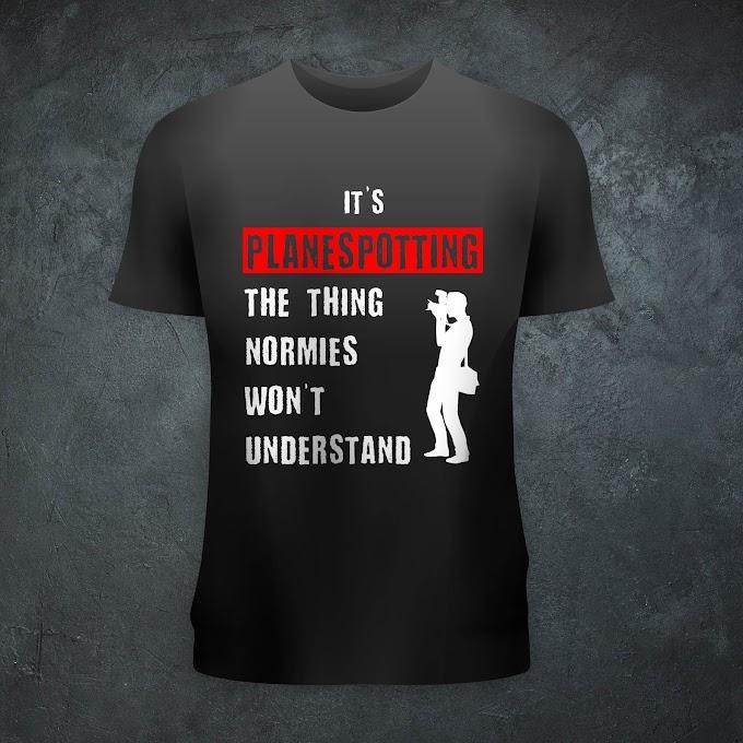 Aircraft Nerds Planespotter Unisex T-shirt