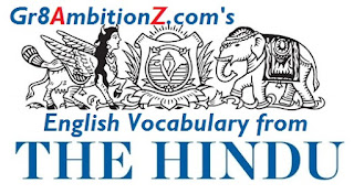 Vocabulary from The Hindu Gr8