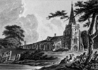 An engraving of North Mims Church, Herts, by J. Hassell, published in London in 1816 Image courtesy of local historian Peter Miller
