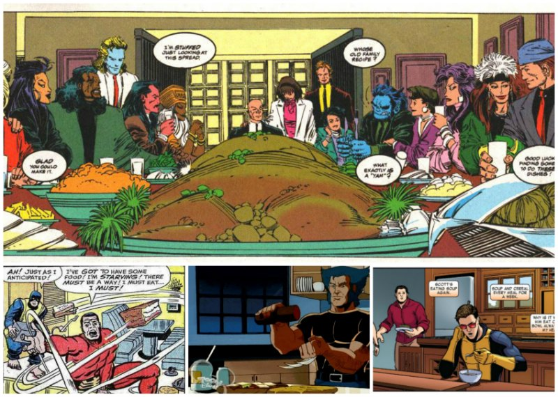 Eating in X-Men Comics