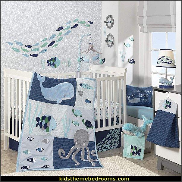 Lambs & Ivy Oceania Blue Ocean/Sea/Nautical Nursery