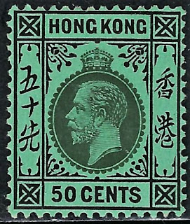 Hong Kong - 1921 - King George V. 50 cent
