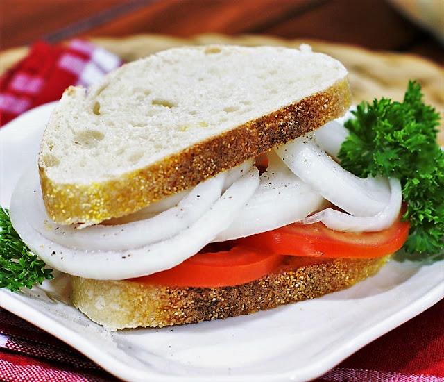 Tomato Sandwich with marinated Vidalia Onions Image