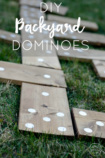 outdoor games, backyard dominoes