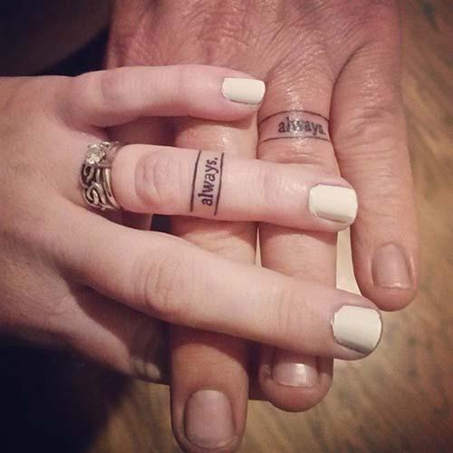 wedding ring tattoo words yüzük parmağı yazı dövmesi sevgili