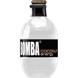 A stock image of Bomba Coconut Energy Drink, from Big Lots
