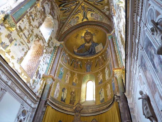 mosaico cristo pantocratore duomo cefalù