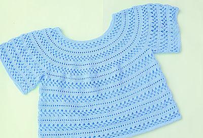 3 - Crochet Imagen Cuerpo de blusa y jarsey a crochet por Majovel Crochet