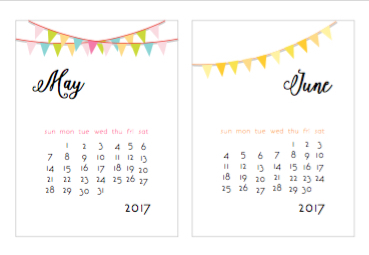 2017 year calendar printable
