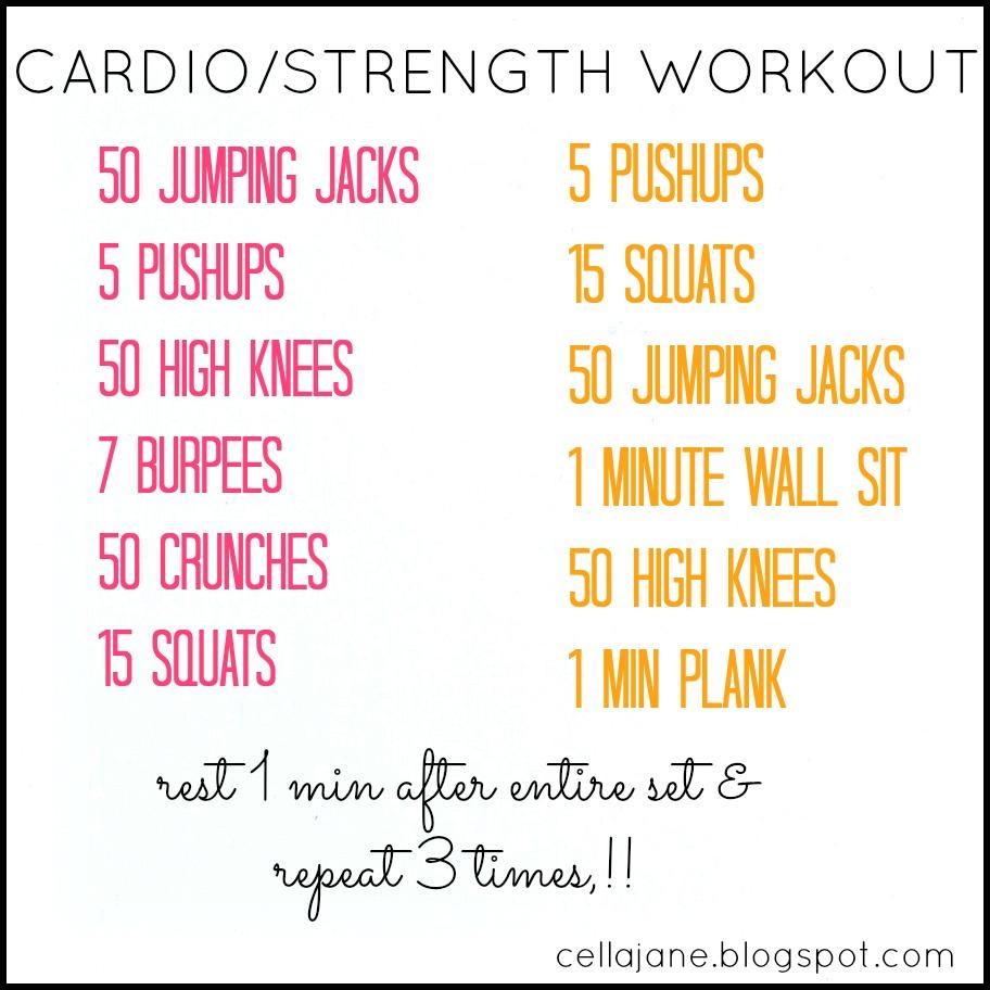 Cardio Workout: Cella Jane // Fashion + Lifestyle Blog: No Gym? No Problem