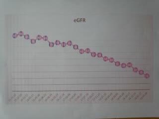 腎臓ろ過値の表