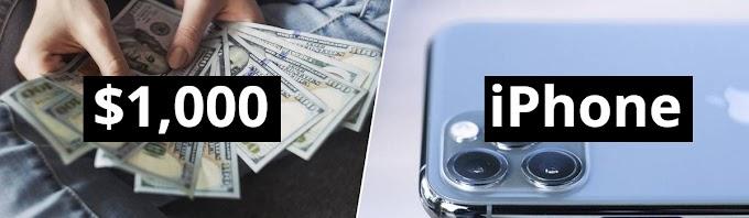 SORTEIO de um iPhone 11 Pro ou Gift Card de $1,000 dólares