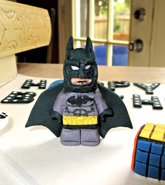 Nerdy Thirty Cake - Fondant LEGO Batman Decoration