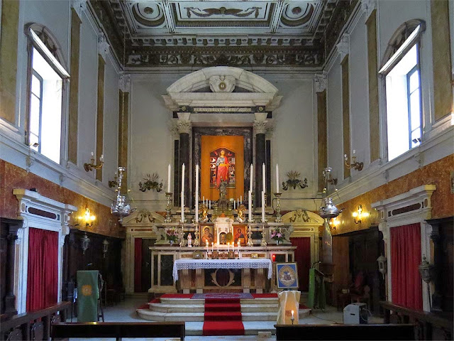 Interior of the church of Santa Giulia, Saint Julia, Livorno