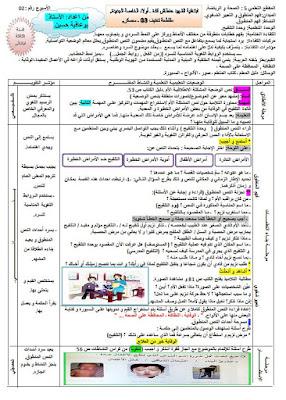 مذكرات الاسبوع الثامن عشر (18) مادة اللغة العربية السنة الثالثة ابتدائي الجيل الثاني