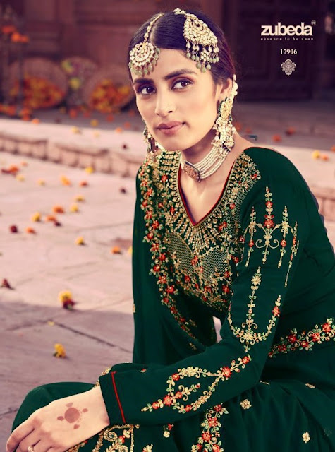Zubeda Mehzbin Georgette Bridal Salwar Kameez Latest Collection