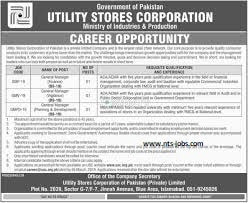 Utility Stores Corporation (USC) Jobs 2019 Vacancies Advertisement Latest