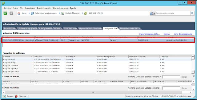 Imágenes ESXi importadas de VMWare Sphere Update Manager.