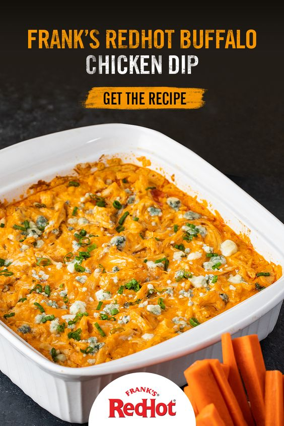Frank's RedHot Buffalo Chicken Dip #recipes #dinnerrecipes #eveningdinnerrecipes #food #foodporn #healthy #yummy #instafood #foodie #delicious #dinner #breakfast #dessert #yum #lunch #vegan #cake #eatclean #homemade #diet #healthyfood #cleaneating #foodstagram