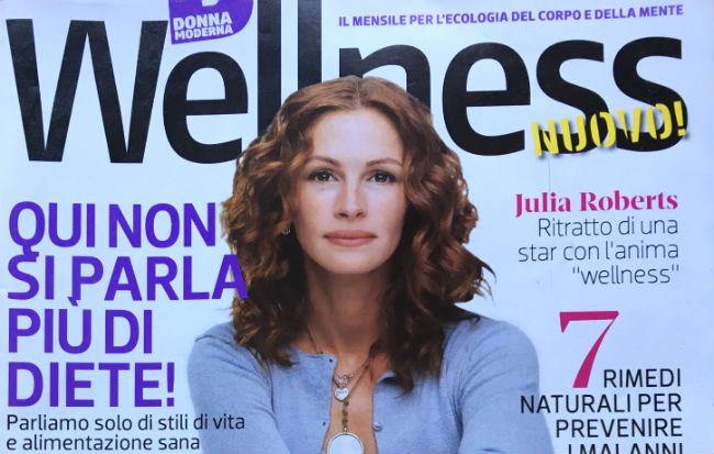 La copertina del primo numero della rivista Wellness Donna Moderna