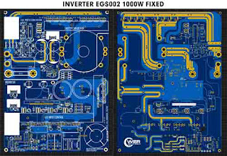 PCB Layout 1000W Inverter 12/24VDC to 220VAC with EGS002 High Freq